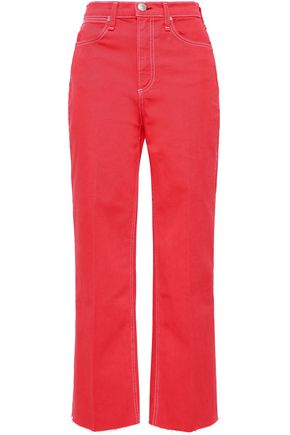 RAG & BONE Justine cropped high-rise straight-leg jeans