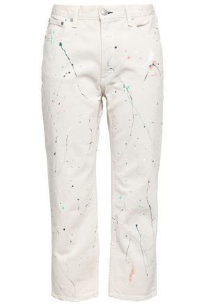 RAG & BONE Painted high-rise straight-leg jeans