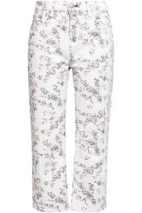RAG & BONE Floral-print high-rise straight-leg jeans