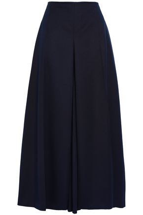 ALEXANDER MCQUEEN Cropped wool-twill wide-leg pants