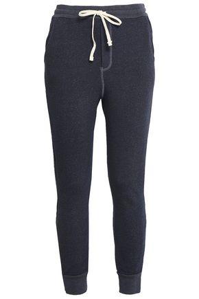 SUNDRY Mélange cotton-blend track pants
