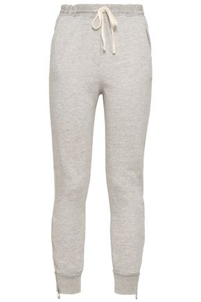 SUNDRY Mélange French cotton-blend terry track pants