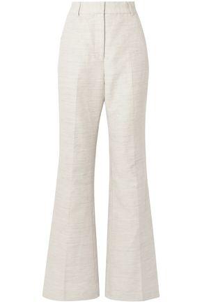 REBECCA VALLANCE Cotton and linen-blend wide-leg pants
