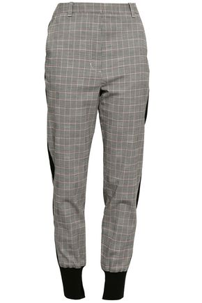 3.1 PHILLIP LIM Prince of Wales checked stretch wool and cotton-blend tapered pants