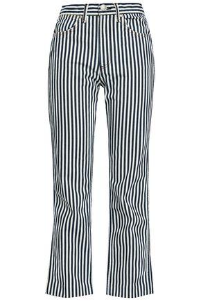 RAG & BONE Striped high-rise straight-leg jeans