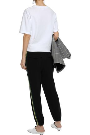 DEREK LAM 10 CROSBY Striped crepe track pants