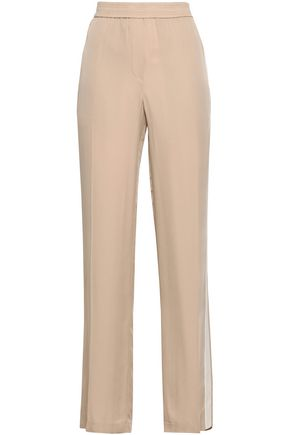 THEORY Silk crepe de chine straight-leg pants
