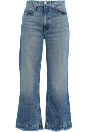 RAG & BONE Frayed high-rise kick-flare jeans
