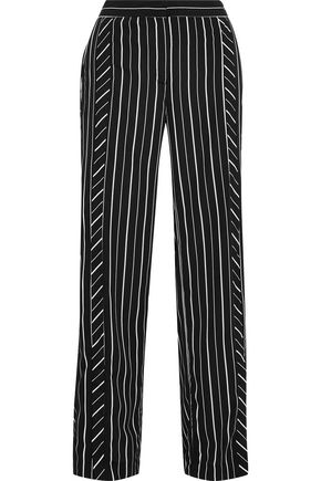 W118 by WALTER BAKER Dalton striped crepe de chine wide-leg pants