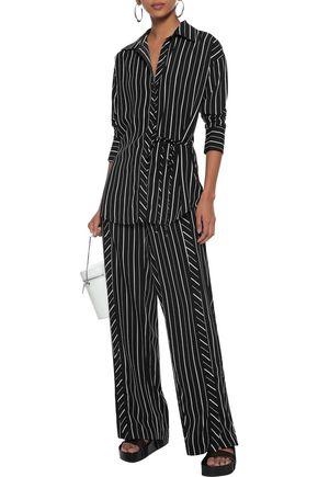 W118 by WALTER BAKER Dalton striped crepe de chine wide-leg pants