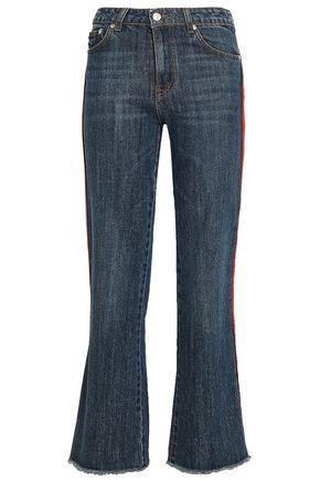 MSGM High-rise kick-flare jeans