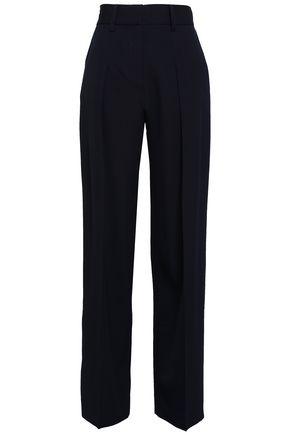 VICTORIA, VICTORIA BECKHAM Wool-twill straight-leg pants