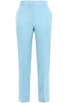 VICTORIA, VICTORIA BECKHAM Cropped wool-twill straight-leg pants