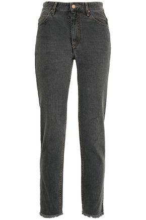 ISABEL MARANT ÉTOILE Frayed high-rise slim-leg jeans