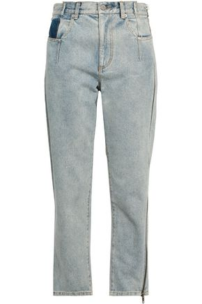 3.1 PHILLIP LIM Cropped faded high-rise straight-leg jeans