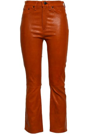 RAG & BONE Hana leather bootcut pants