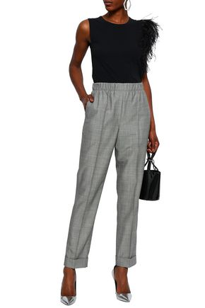 HELMUT LANG Wool and mohair-blend straight-leg pants
