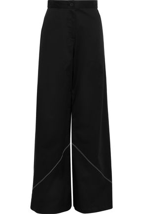 TOME Stretch-cotton poplin wide-leg pants