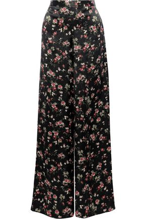 CAMI NYC Tommy silk-charmeuse wide-leg pants