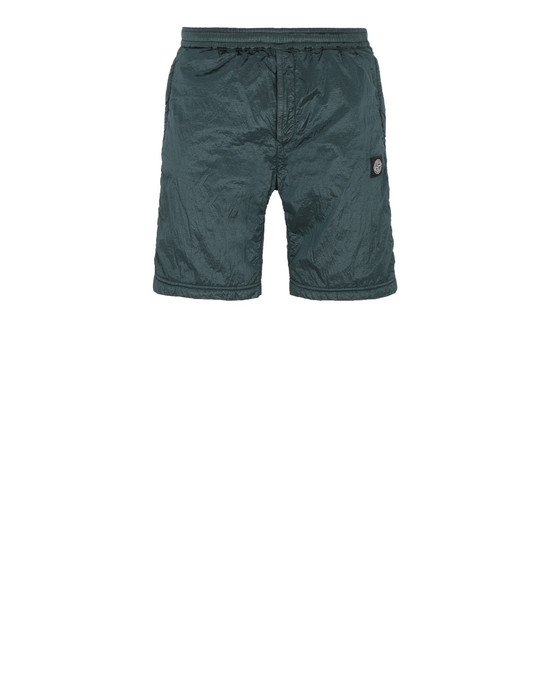 STONE ISLAND 63236 NYLON METAL RIPSTOP + RETE ISOLANTE-TC FLEECE BERMUDA SHORTS Man Dark Teal Green