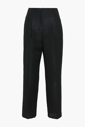 ROBERTO CAVALLI Wool and mohair-blend straight-leg pants