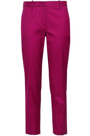 ROBERTO CAVALLI Cropped cotton-blend twill slim-leg pants