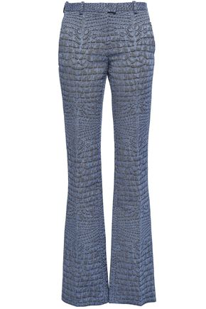 ROBERTO CAVALLI Printed mid-rise bootcut jeans