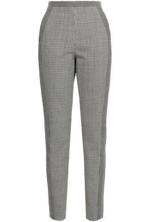ROBERTO CAVALLI Houndstooth wool slim-leg pants