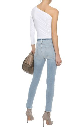 FRAME Le Skinny De Jeanne distressed mid-rise skinny jeans