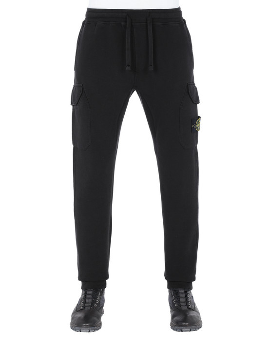 STONE ISLAND 61120 Fleece Pants Man Black