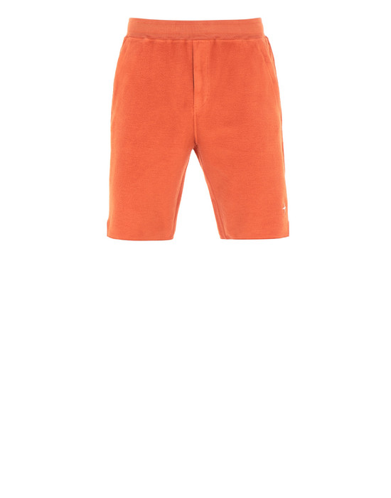 STONE ISLAND 61440 FLEECE BERMUDA SHORTS Man Orange