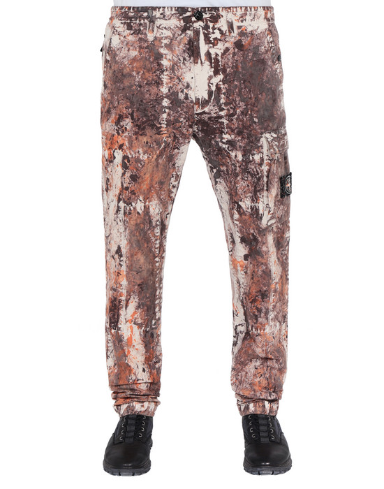 STONE ISLAND Trousers 322PA PAINTBALL CAMO_COTTON/CORDURA®