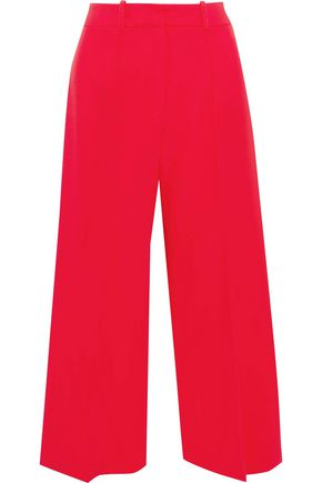 MILLY Hayden cropped cady wide-leg pants
