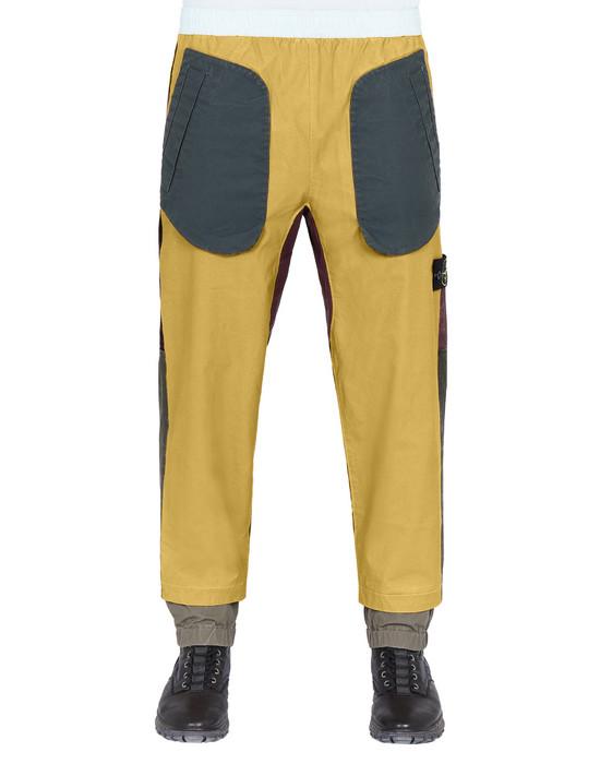 STONE ISLAND 31855 TELA PLACCATA BICOLORE Pants Man Mustard