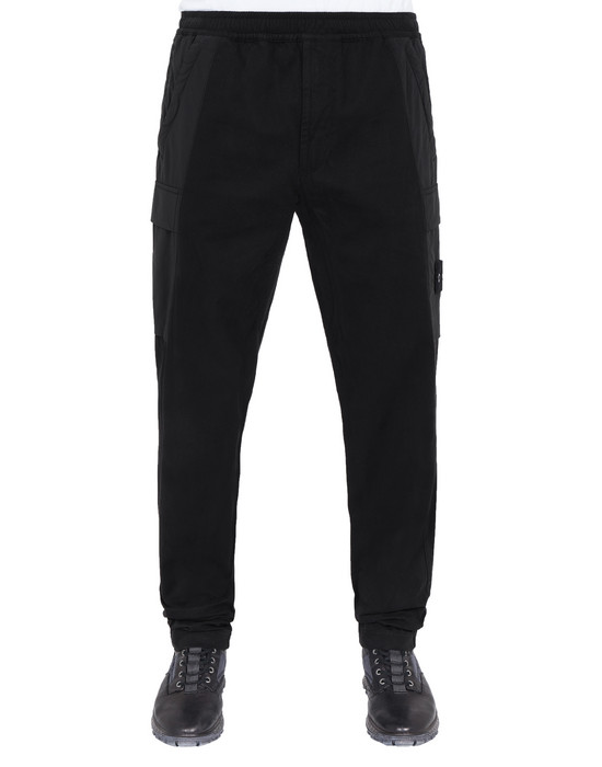 Sold out - STONE ISLAND 312F2 GHOST PIECE Pants Man Black