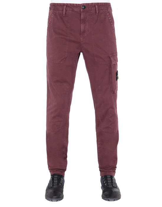 STONE ISLAND 315L1 'OLD' DYE TREATMENT  Pants Man Dark Burgundy