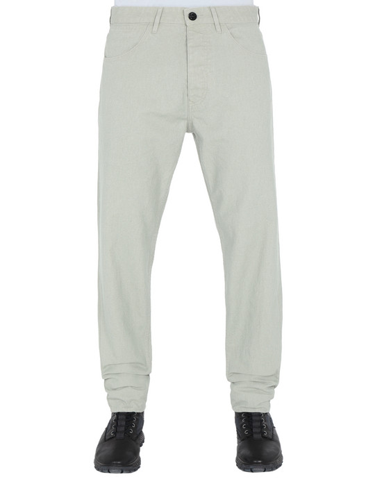 STONE ISLAND PANTS - 5 POCKETS J02J1 PANAMA PLACCATO RE-T
