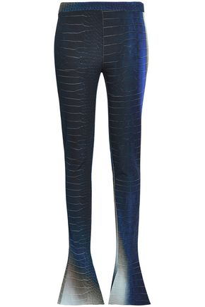 ROBERTO CAVALLI Printed jersey flared pants