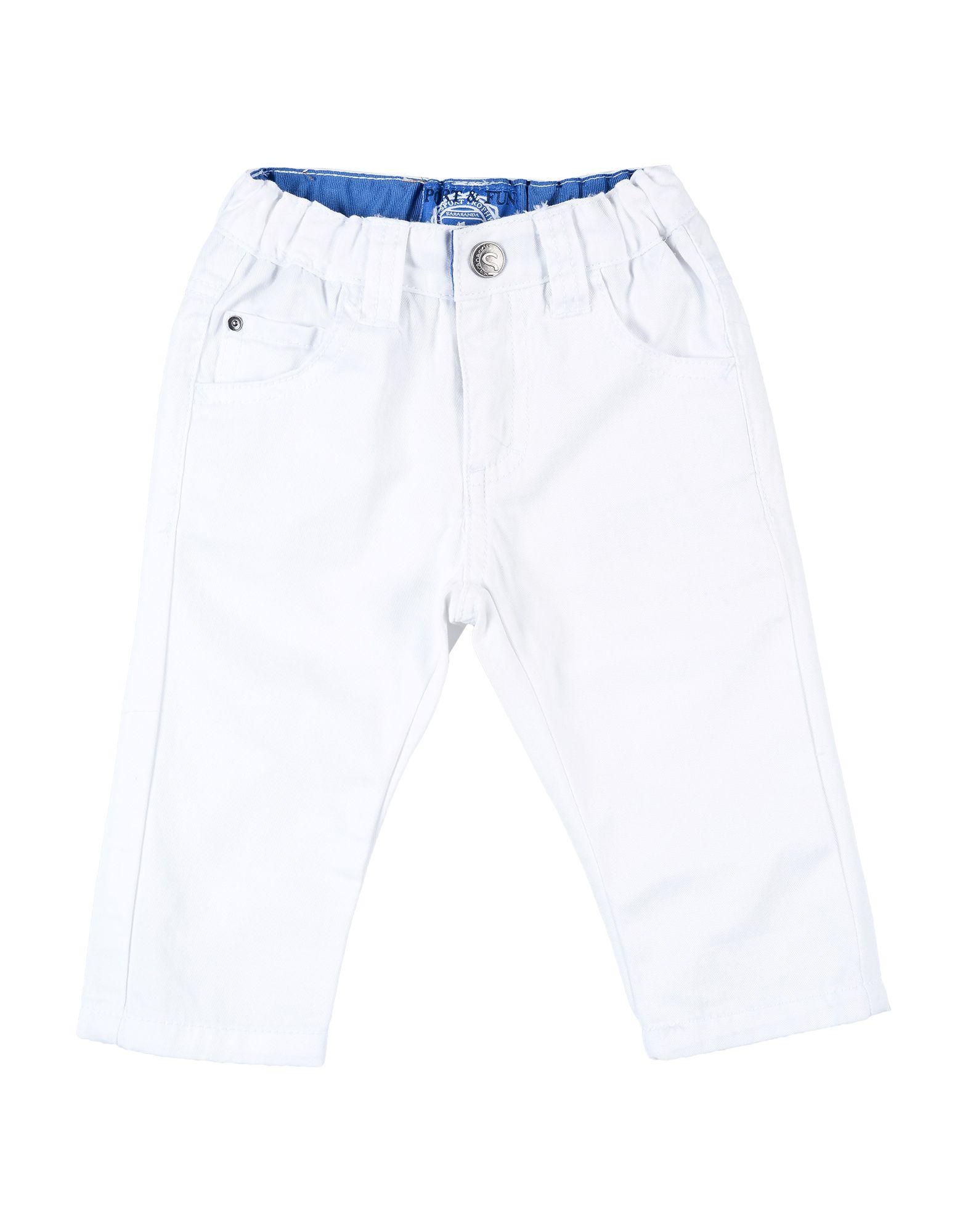 《セール開催中》SARABANDA ボーイズ 0-24 ヶ月 パンツ ホワイト 9 コットン 100%