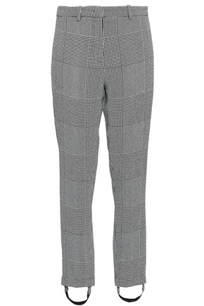 ROBERTO CAVALLI Prince of Wales checked woven slim-leg stirrup pants