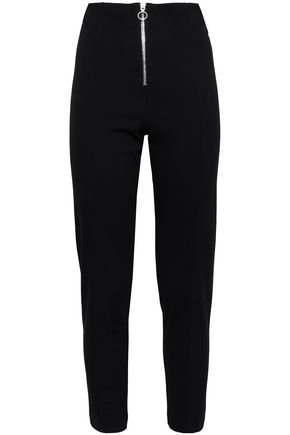 NINETY PERCENT Cropped stretch-ponte slim-leg pants