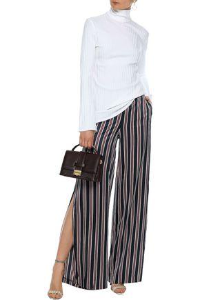 CAMI NYC Silk-satin wide-leg pants