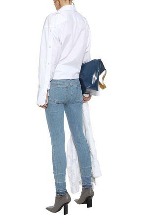 RAG & BONE Ankle Skinny frayed low-rise skinny jeans