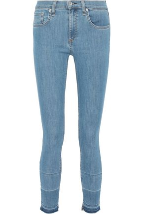 RAG & BONE Ankle Skinny frayed low-rise skinny jeans