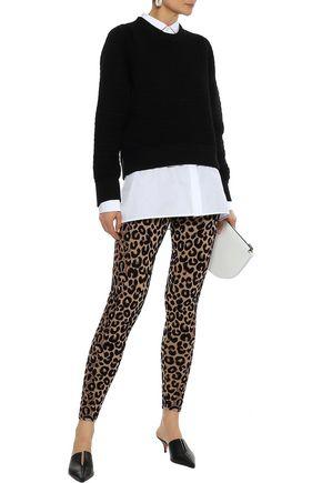 e2d4cb474f97 MILLY Leopard-print stretch-knit leggings