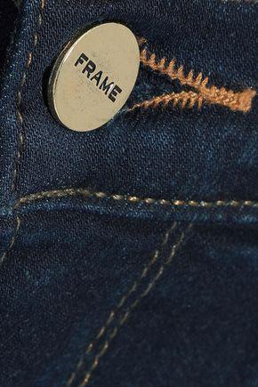 FRAME Le Skinny De Jeanne frayed mid-rise skinny jeans