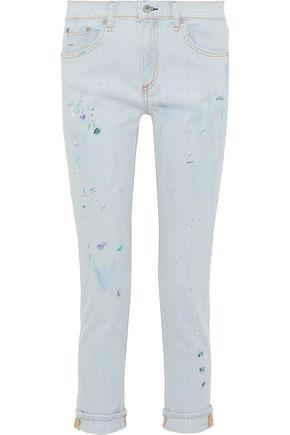 RAG & BONE Dre painted mid-rise slim-leg jeans
