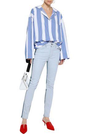 RAG & BONE Two-tone high-rise skinny jeans