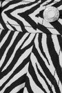 HELMUT LANG Motley cotton and silk-blend zebra-jacquard straight-leg jeans