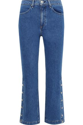 RAG & BONE Dylan snap-detailed high-rise bootcut jeans
